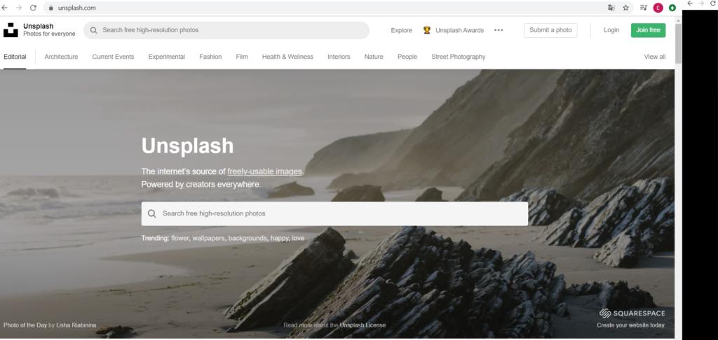 Unsplash : banque d'images libres de droit