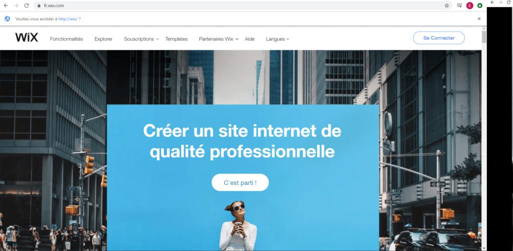 comment creer un site internet avec wix