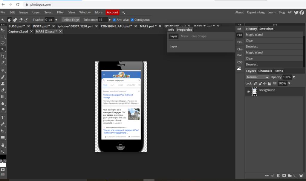Photopea - logiciel retouche photo gratuit
