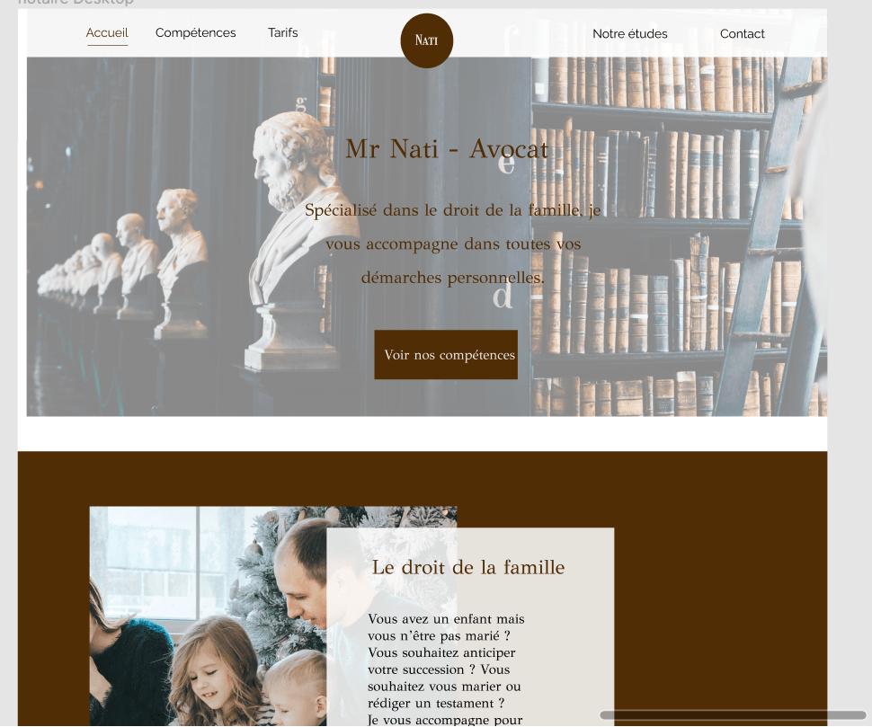 site internet avocat notaire